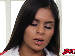 magnificent Latina nurse banged and strewn with spunk