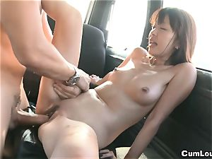 chinese porn industry star Marica Hase pounded on Wheels