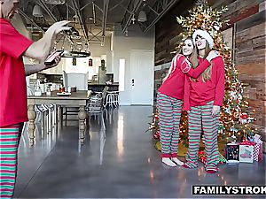 Niki Snow gets a pounding for Christmas from her dad