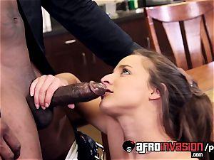 Amirah Adara working firm to earn a immense ebony manhood