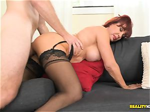 splendid Vanessa getting her old cootchie torn up