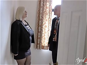 AgedLovE Lacey Starr ravaged rock hard with Sales Agent