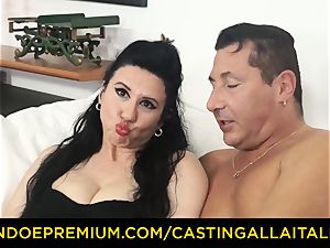 casting ALLA ITALIANA brunette nympho harsh assfuck hump