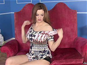 Jayden Cole thrusts her fingers deep in her wet crevice