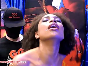 beautiful ebony Latina Luna Corazon squeals in pleasure