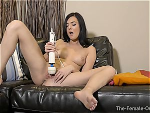 Coeds wand getting off to numerous climaxes