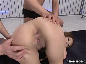 Getting her sensitive fuck-holes gobbled up by the fellas