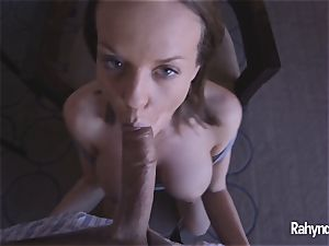Rahyndee James point of view slit pulverized By scorching cock