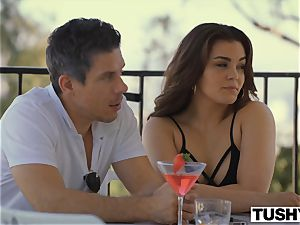 TUSHY gf Gets dominated By power couple On Vacation