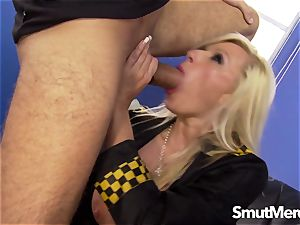 sexy officer Michelle Throne fucked rigid