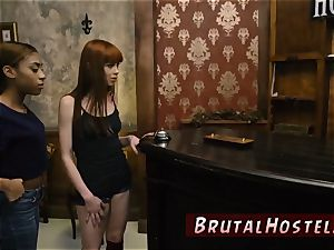 cruel double penetration gangbang super-sexy youthfull damsels, Alexa Nova and Kendall forest, take a train-ride