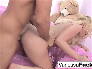 Interview and orgy with lovely Vanessa cage