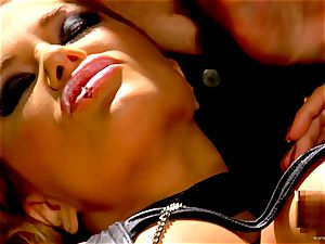 Shyla Stylez takes this stiff sausage deep in her taut caboose