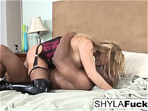 Prince delivers a ebony trouser snake For Shyla
