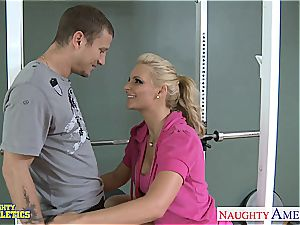 stunning Phoenix Marie at the gym getting pummeled