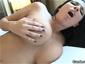 Anissa Kate demonstrating her hefty innate bra-stuffers in Public