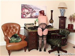 ginger-haired is antique nylon fetish tramp at masturbate Off Club