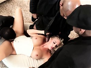 Samantha Saint multiracial 4some