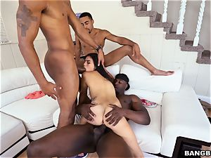 Michelle Martinez getting boinked by a flow of black stiffys