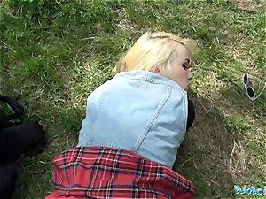 Public Agent molten blondie college girl fucked doggystyle