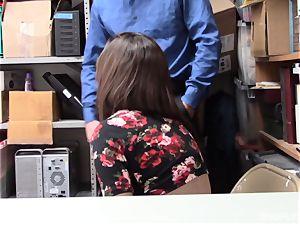 Lily Jordan enjoys the security guards boner deep inwards her