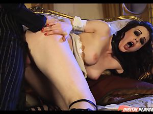 Tina kay has large blast on her uber-sexy ultra-cute face from frankenstein
