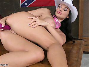 tormenting cockslut Aletta Ocean fucktoys her wet coochie