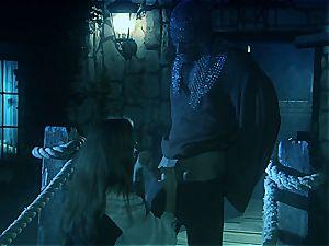 Jenna Haze allures a knight on the fortress bridge
