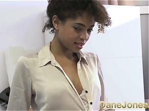 Dane Jones beautiful nubile dark-hued office gal