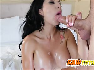 Kim gets her titties touched as her lover jams her punani