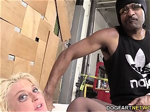 Leya Falcon Gets analed By A draped ebony boy
