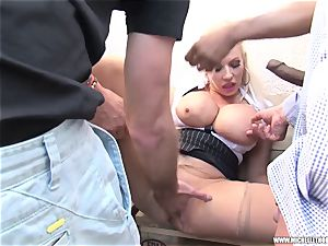 aficionados smoking gang touch masturbate with Michelle Thorne