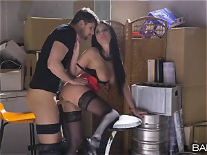 giant innate knockers Frenchwoman gets pummeled in the dungeon space