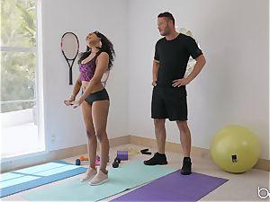 multiracial smash with Jenna J Foxx after super-hot yoga