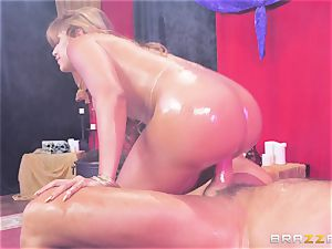 Oily butt slammed Mercedes Carrera