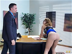Britney Amber getting torn up in her rump and coochie