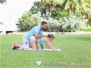PureMature mummy Cory chase screwed after run in the park