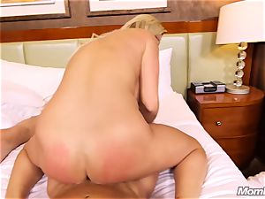 super-fucking-hot Swedish ash-blonde plumbs 2 large knobs