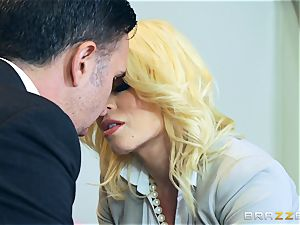 super-naughty honey Nikki Delano ball-gagged by gigantic lollipop