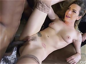 ebony guy smashes his manager promiscuous wifey Dahlia Sky