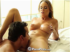 Alexis Adams uses her curves and poon