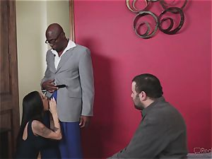 super-naughty wife Nadia Styles gets multiracial fuckin'