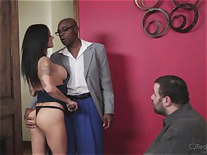 super-naughty wife Nadia Styles gets multiracial fuckin'