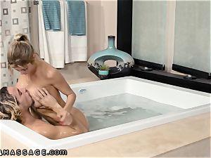 sonnie Caught StepMommy Alexis Fawx Working Nuru massage