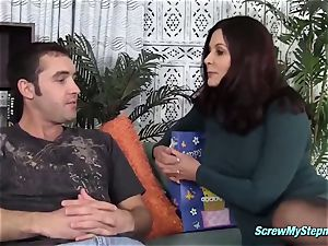 busty cougar banged by her stepson