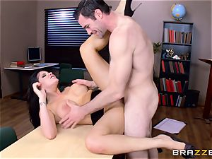 Romi Rain gagging on a firm prick