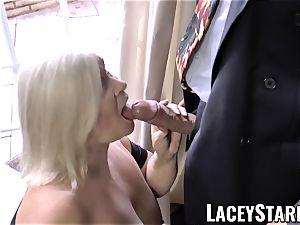 LACEYSTARR - horniest granny analled before cumshot