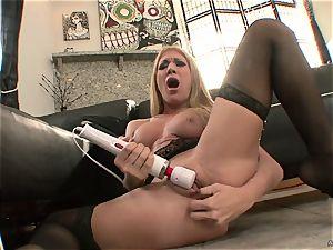 unbelievable Amy Brooke torments her pulsating fuck fuck-holes