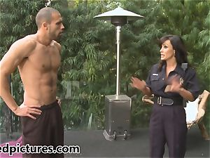 huge-chested cop Lisa Ann gives out her pipe penalty