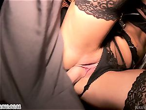 Romi Rain - epic super-hot first-timer pornography in the street